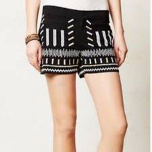 Anthropologie x Chloe Oliver Embroidered Shorts